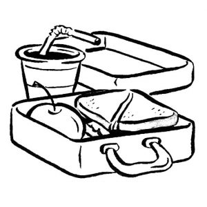 Delicious Food In Lunchbox Coloring Pages