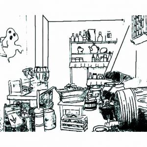 Dirty Kitchen Coloring Pages