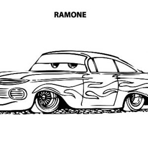 Disney Cars Ramone Lowrider Cars Coloring Pages