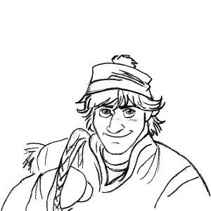 Disney Frozen Character Kristoff Coloring Pages