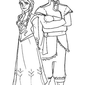 Disney Princess Anna And Kristoff Coloring Pages
