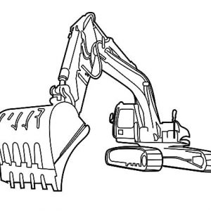Drawing Excavator Coloring Pages