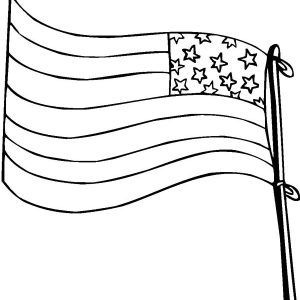Drawing Flag Day Coloring Pages
