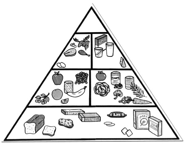 Drawing Food Pyramid Coloring Pages - Download & Print Online ...