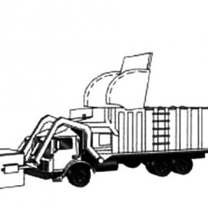 Drawing Garbage Truck Coloring Pages