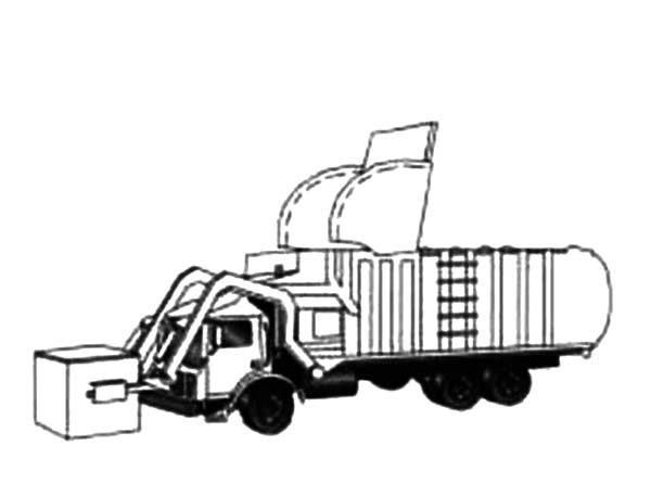 Garbage Truck, : Drawing Garbage Truck Coloring Pages