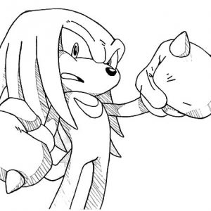 Drawing Knuckles Coloring Pages