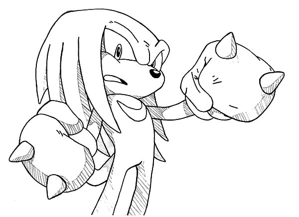 Drawing Knuckles Coloring Pages Download Print Online Coloring Pages For Free Color Nimbus