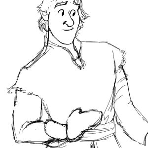 Drawing Kristoff From Frozen Coloring Pages