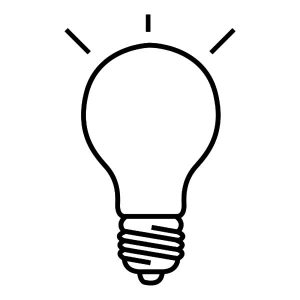 Drawing Light Bulb Coloring Pages