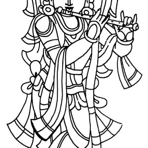 Drawing Lord Krishna Coloring Pages