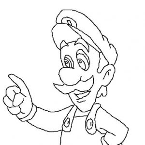 Drawing Luigi Coloring Pages