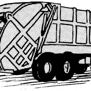 Driving Garbage Truck Coloring Pages