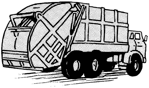 trash truck coloring pages - photo#14