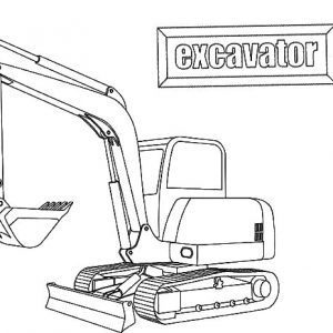 E Is For Excavator Coloring Pages