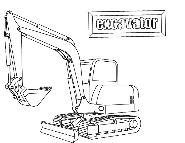 E Is For Excavator Coloring Pages Download Print Online Coloring
