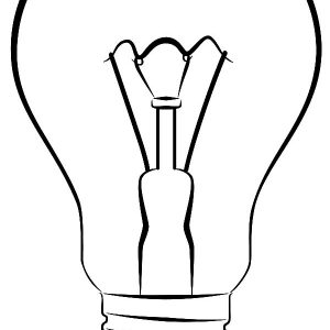 Lamp Coloring Page