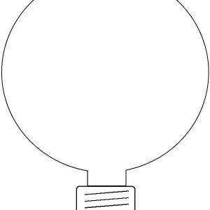 Energy Saving Light Bulb Coloring Pages