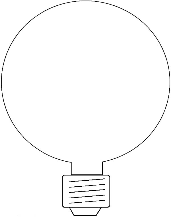 Energy Saving Light Bulb Coloring Pages Download Print Online