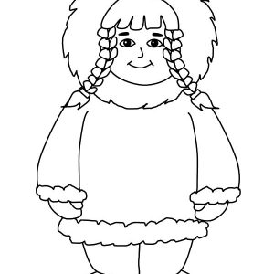 Eskimo Girl Coloring Pages For Kids