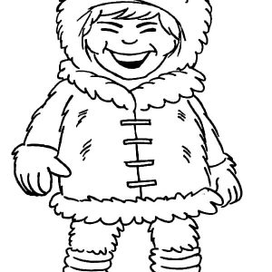 Eskimo Girl Laughing Out Loud Coloring Pages