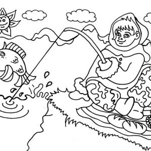 Eskimo Girl From Alaska Coloring Pages