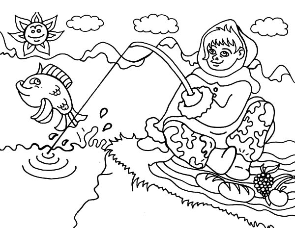 Eskimo Girl From Alaska Coloring Pages Download Print Online