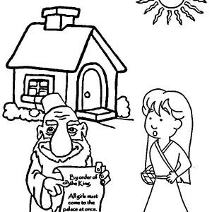 Esther Obey King Order Coloring Pages