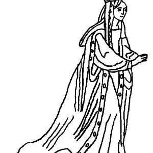 Esther Real Name Is Hadasseh Coloring Pages