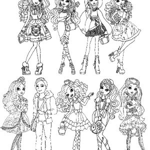Ever After High All Characters Coloring Pages