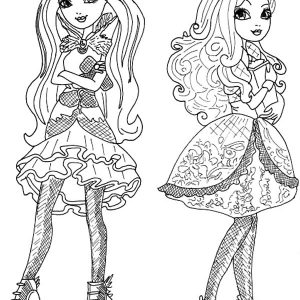 Ever After High Beautiful Couple Coloring Pages