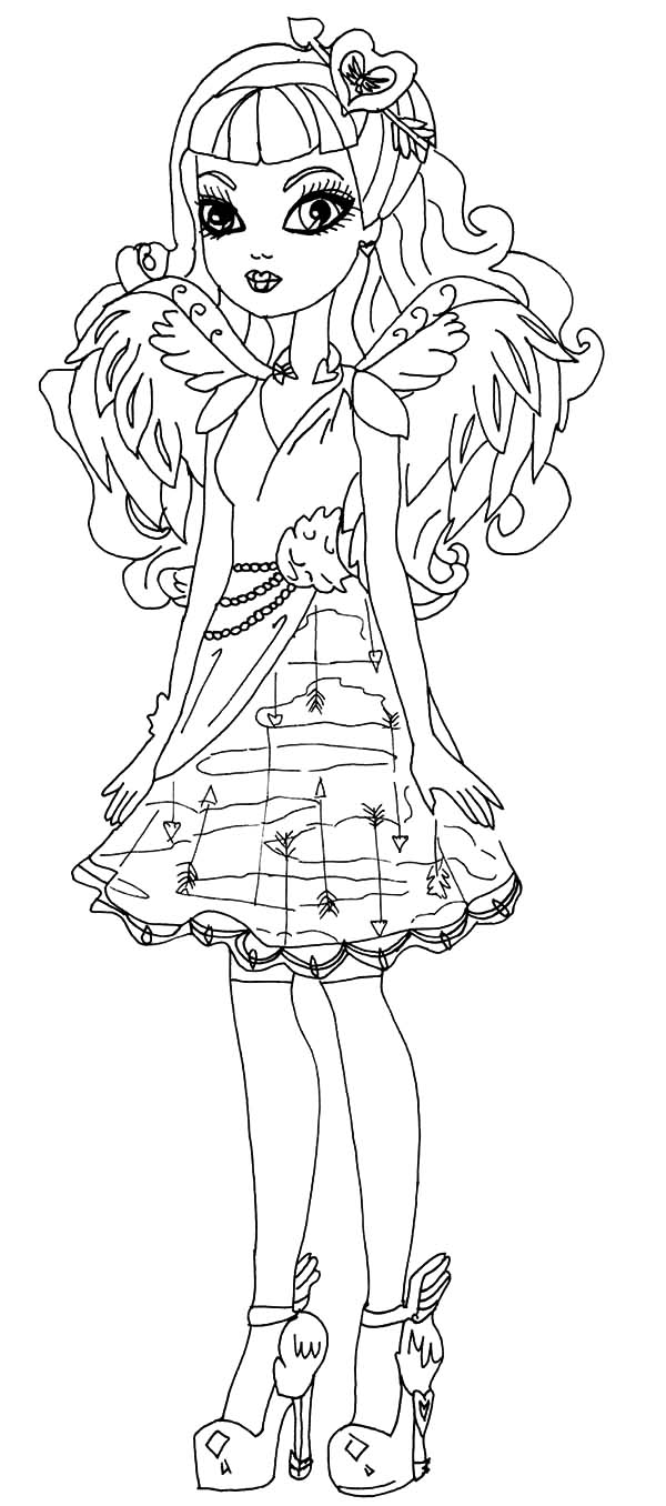 Ever after high ca cupid coloring pages