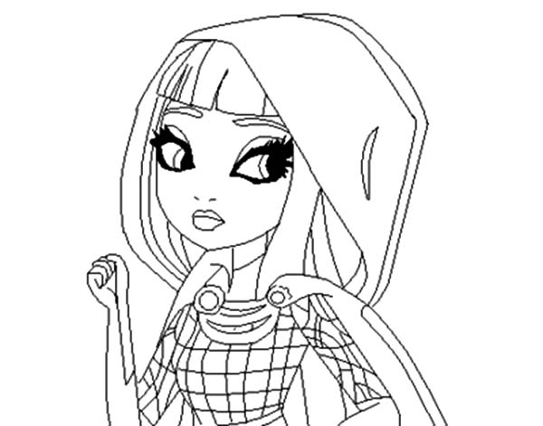 Ever After High Cerise Hood Look Confuse Coloring Pages