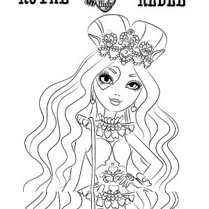 Ever After High Lizzie Hearts Coloring Pages