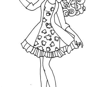 Ever After High Madeline Maddie Coloring Pages