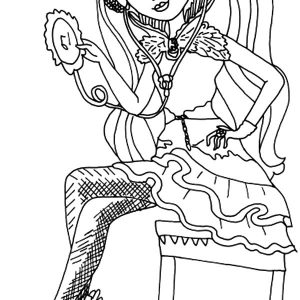 Ever After High Raven Queen Listening Song From Diskman Coloring Pages