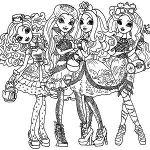 Ever After High Ready To Go To Party Coloring Pages