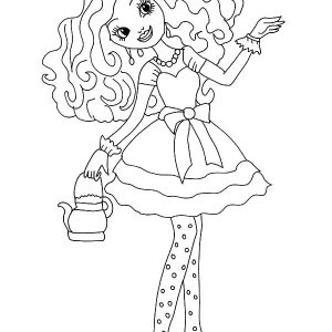 Ever After High Serving Tea Coloring Pages