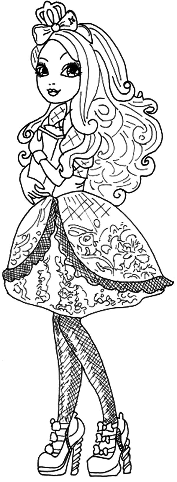Ever After High Slowly Walking Coloring Pages Download