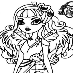 Ever After High A Couple Wing Of Cupid Coloring Pages