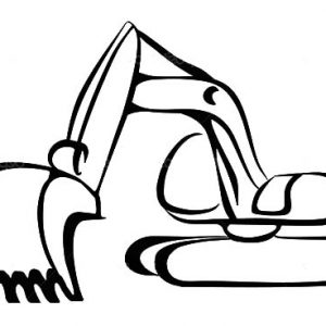 Excavator Clipart Coloring Pages
