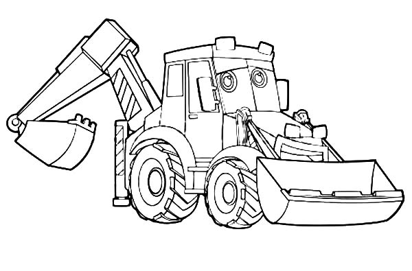 Excavator Coloring Pages Download Print Online Coloring Pages
