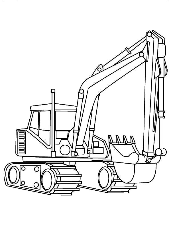 digger coloring pages Excavator Digger Coloring Pages   Download & Print Online Coloring  digger coloring pages