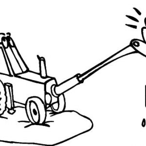 Excavator Loads Of Love Coloring Pages