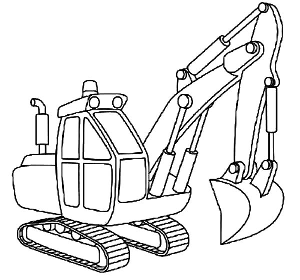 Excavator Outline Coloring Pages Download Print Online Coloring