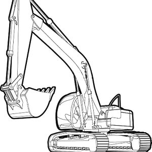 Excavator Picture Coloring Pages