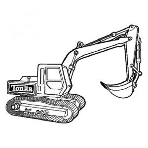Excavator For Forestry Work Coloring Pages