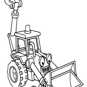 Excavator From Bob The Builder Coloring Pages