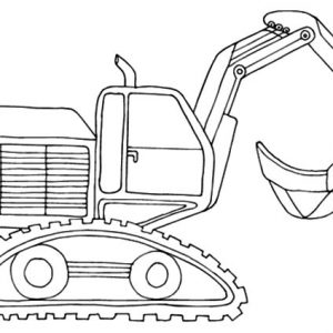 Excavator With Load Shovel Coloring Pages