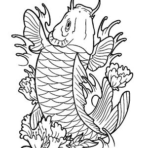 Expensive Koi Fish Coloring Pages